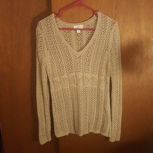 Tan crotchet sweater